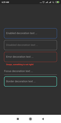 Decorated TextField