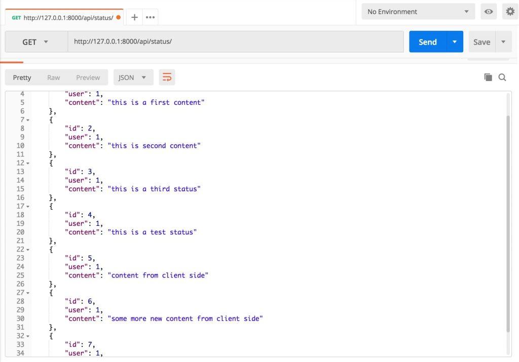 Django API returns list of object in JSON