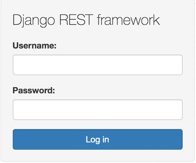 django rest framework login view